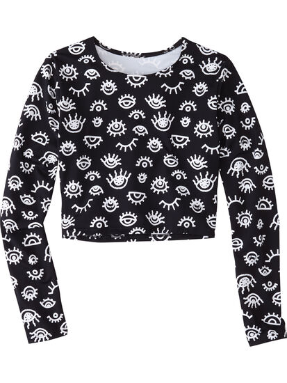 Boost Cropped Long Sleeve Rash Guard: Image 1