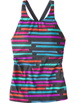 Woman Up High Neck Tankini - Color Shield