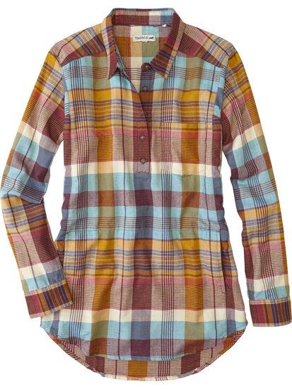 Plaiditude Droptail Long Sleeve Shirt: Image 1