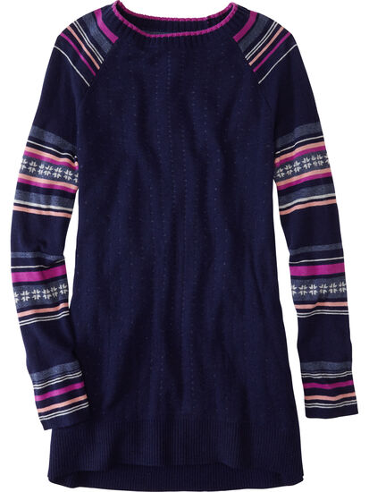 Mover-Maker Crew Neck Tunic Sweater: Image 1