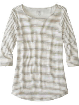 Mettle 3/4 Sleeve Top - Painted Stripe