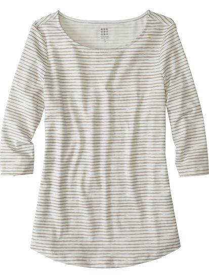 Mettle 3/4 Sleeve Top - Painted Stripe: Image 1