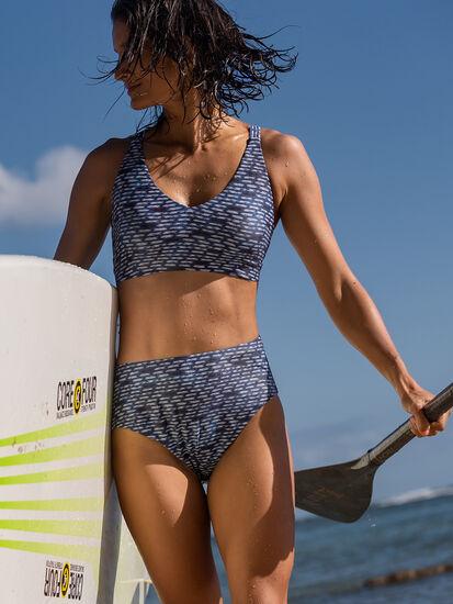 Streamline High Waisted Bikini Bottom - Shibori Mini