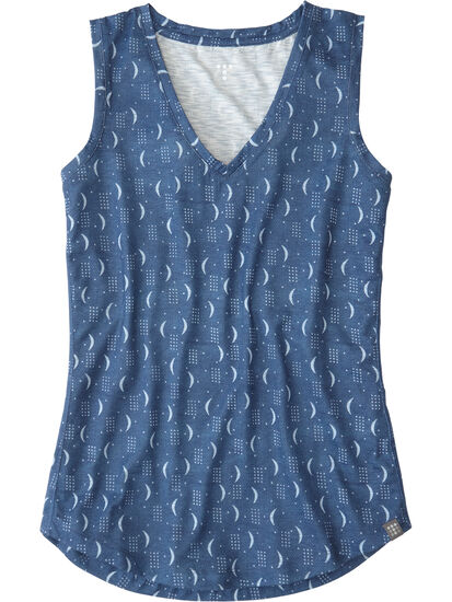 Henerala V-Neck Tank Top - Moon Dot: Image 1