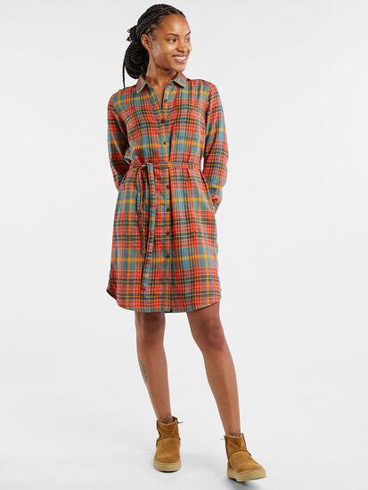 Plaiditude Long Sleeve Shirt Dress: Image 3