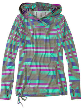 Sunbuster Long Sleeve Hoodie - Sunset Stripe