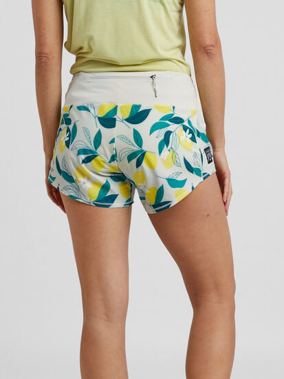 "Obsession Running Shorts 4"" - Floral: Image 2"