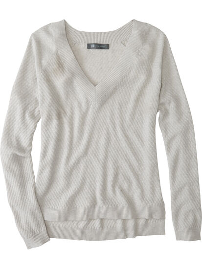 99 V Neck Sweater - Textured: Image 1