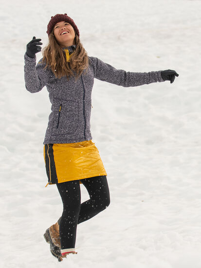 Bun Warmer Quilted Skirt: Model Image