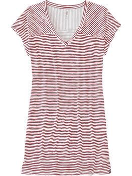 Hiolani V Neck Dress - Painted Stripe