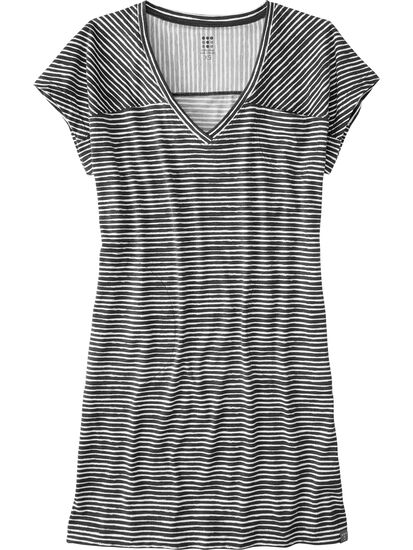 Hiolani V Neck Dress - Painted Stripe: Image 1