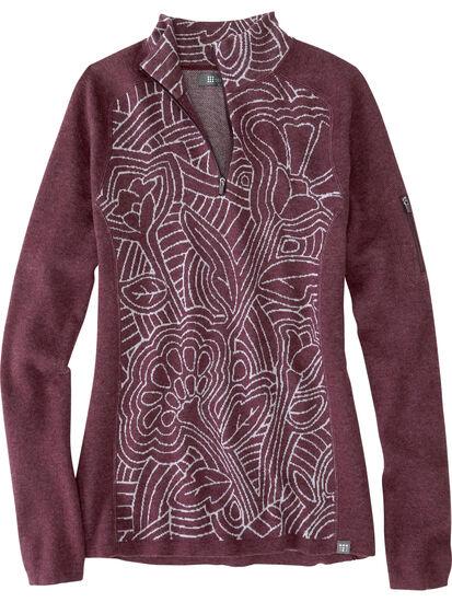 Super Power 1/4 Zip Sweater - Woodcut Botanical: Image 1