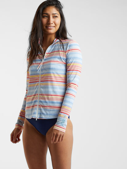 Keep Your Cool Sun Shirt - Multi Stripe: Model Image