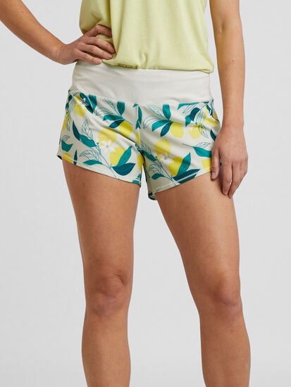 "Obsession Running Shorts 4"" - Floral: Image 1"