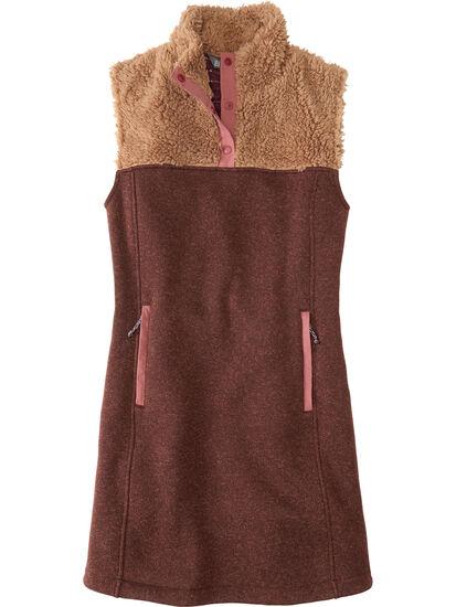 Callitrix Fleece Vest Dress: Image 1