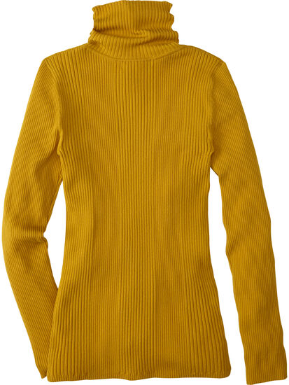 Synergy Ribbed Turtleneck Sweater - Solid: Image 2