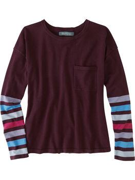 Synergy Crew Neck Sweater - Sleeve Stripe