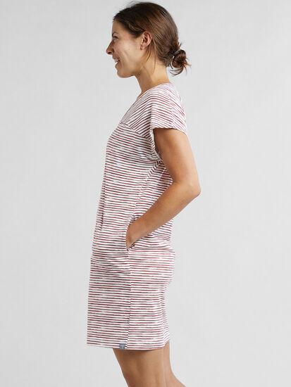 Hiolani V Neck Dress - Painted Stripe, , original