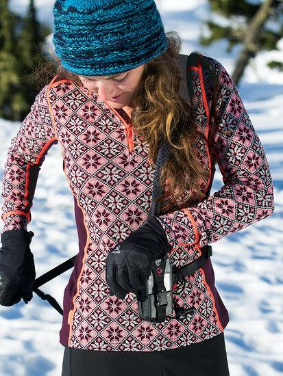 Slalom Half Zip Long Sleeve Top Hoodie: Model Image