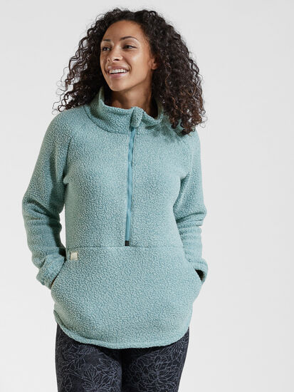 Small Batch 1/2 Zip Fleece Pullover: Model Image