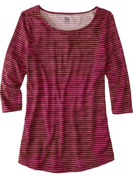 Mettle 3/4 Sleeve Top - Painted Stripe