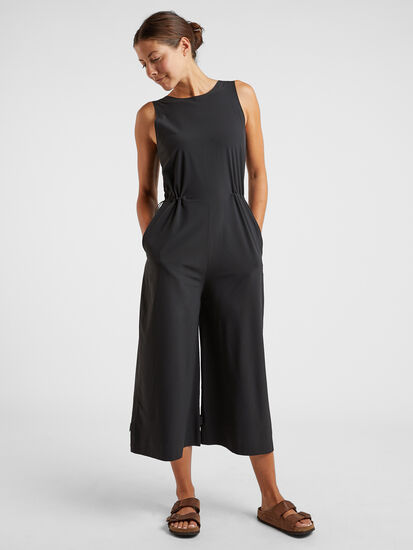 Round Trip Sleeveless Jumpsuit: Model Image