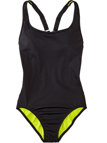 More One Piece Swimsuit - Solid: Image 1
