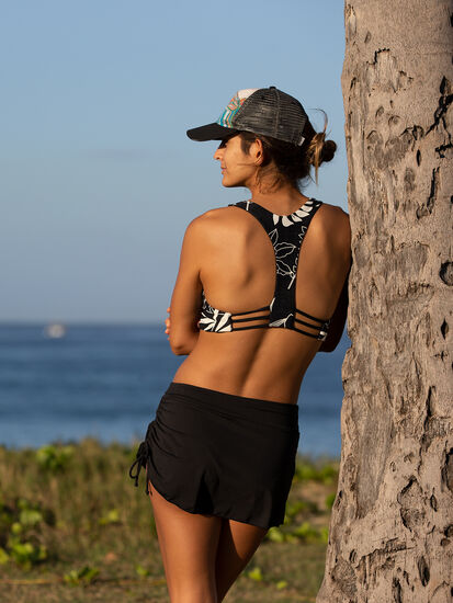 Shorebird Reversible Bikini Top - Wailuku: Model Image