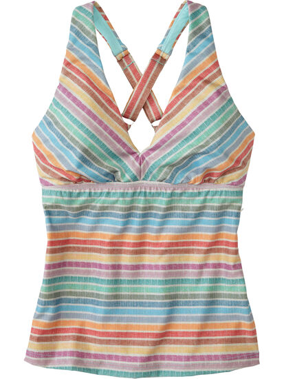 Better 2.0 Tankini Top - Linen Stripes: Image 1