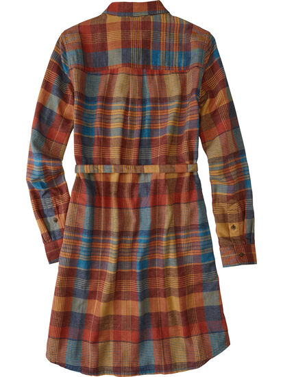 Plaiditude Long Sleeve Shirt Dress: Image 2
