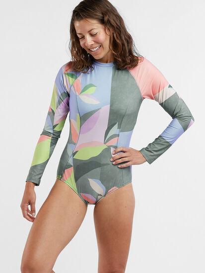 Zenith Long Sleeve One Piece Swimsuit- Montego Bay: Image 2
