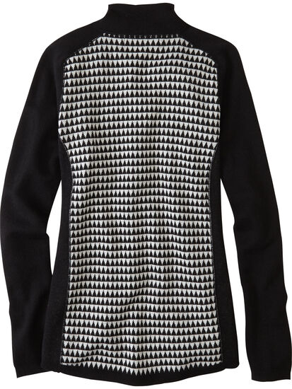 Super Power Quarter Zip Sweater - Houndstooth Geo: Image 2
