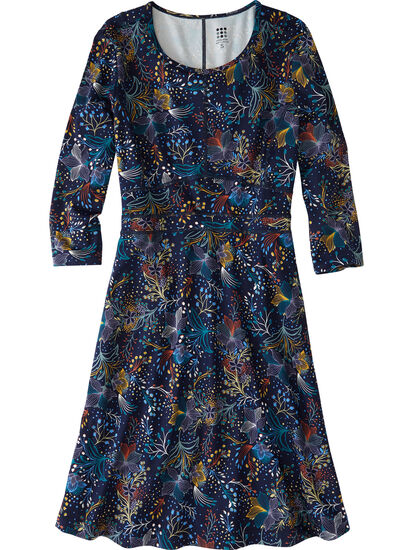 Dream 3/4 Sleeve Dress - Flora Fest: Image 1