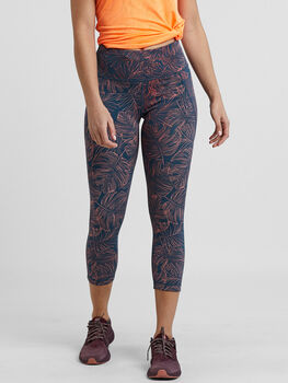 Mad Dash Reversible Crop Tights - Aloha