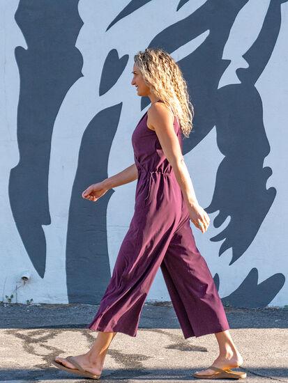 Round Trip Sleeveless Jumpsuit: Model Image