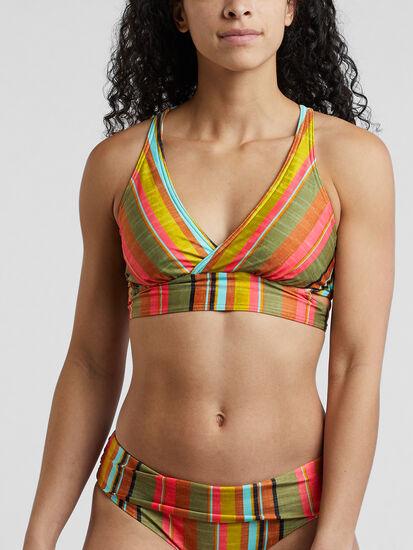 Fergusen Bikini Top - Cacti Soleil Stripe