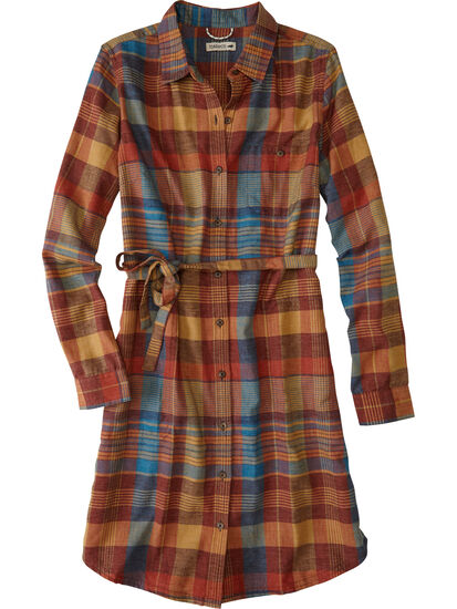 Plaiditude Long Sleeve Shirt Dress: Image 1