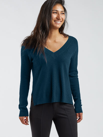 99 V Neck Sweater - Textured: Image 3