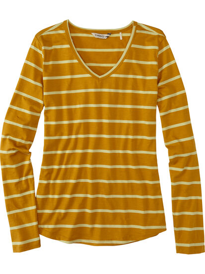 Samba V Neck Long Sleeve Tee: Image 1