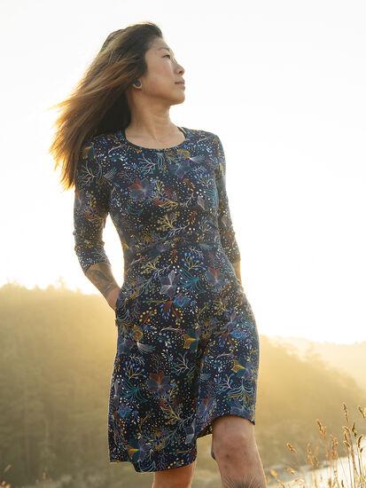 Dream 3/4 Sleeve Dress - Flora Fest