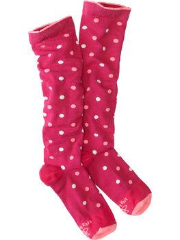 On The Trot Compression Socks - Dots-a-Plenty