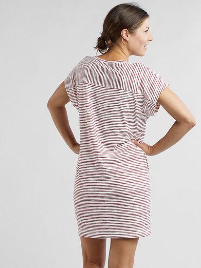 Hiolani V Neck Dress - Painted Stripe: Image 4