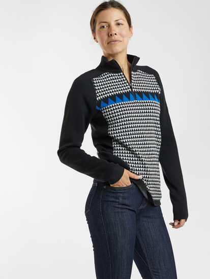 Super Power Quarter Zip Sweater - Houndstooth Geo: Image 3