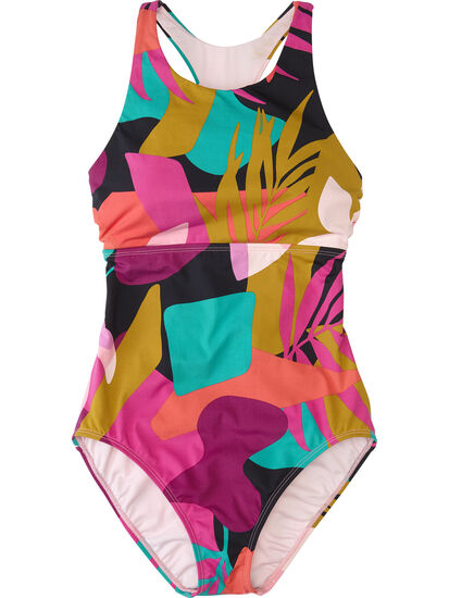 Selkie High Neck One Piece Swimsuit - Seychelles: Image 1