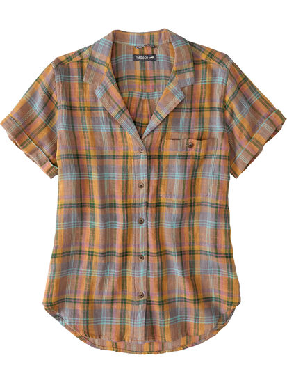 Ziff Short Sleeve Button Down Top: Image 1