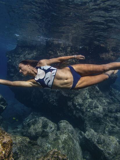 Tidal Reversible Bikini Bottom - Capitola/Navy: Image 5