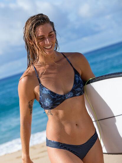 Tidal Reversible Bikini Bottom - Haiku/Stripe