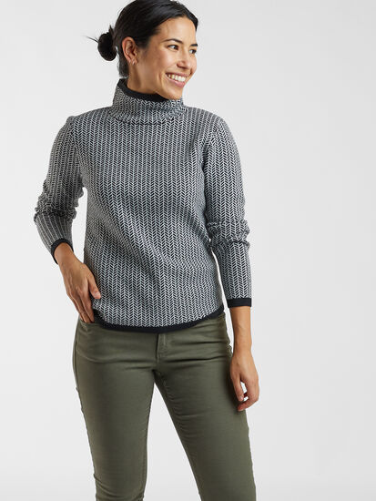 Barra Sweater - Herringbone: Model Image
