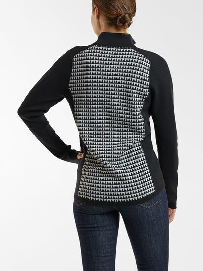 Super Power Quarter Zip Sweater - Houndstooth Geo: Image 4