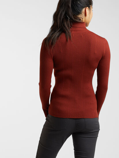 Synergy Ribbed Turtleneck Sweater - Solid: Image 4